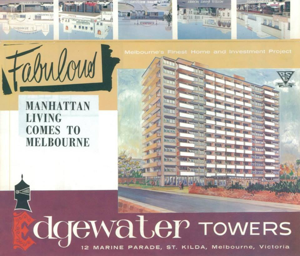 Brochure of Edgewater Towers, 1960s
