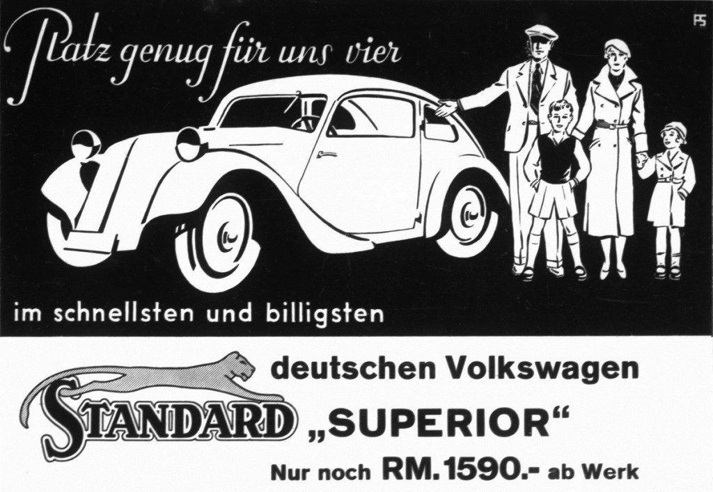Brochure of the Standard Superior, advertising it as 'The fastest and cheapest German Volkswagen', 1933
